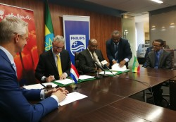 (1) Philips and the governments of Ethiopia and the Netherlands sign seven-year agreement to build E